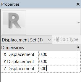 הגדרת גובה בסרגל הפרופרטיז (Properties) רוויט