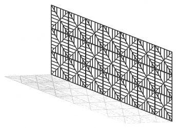 קיר משרביה בעיצוב אישי ברוויט